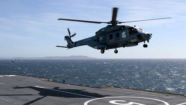 Un helicóptero NH90 (imagen referencial) - Sputnik Mundo