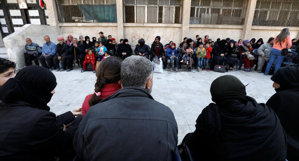 Evacuación de civiles en Guta Oriental, Siria
