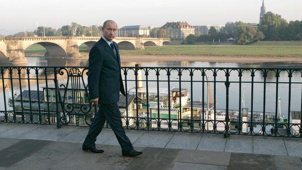 Vladímir Putin, presidente de Rusia, en Dresde, Alemania (archivo) - Sputnik Mundo
