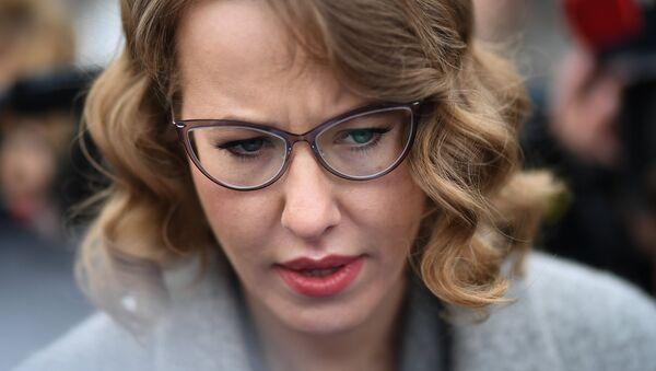 La candidata presidencial rusa Ksenia Sobchak - Sputnik Mundo