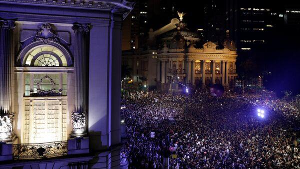 Manifestación en Río de Janeiro - Sputnik Mundo