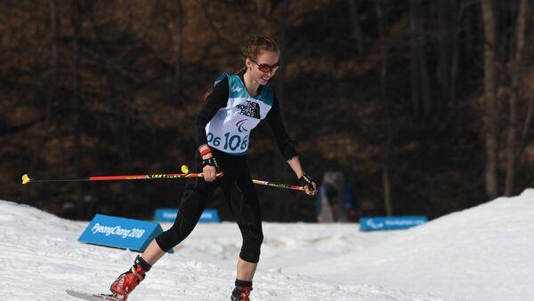 Mikhalina Lysova, biatlonista rusa en durante los Juegos Paralímpicos en Pyeongchang - Sputnik Mundo