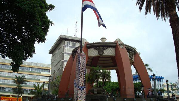 La bandera de Costa Rica en San José, la capital del país - Sputnik Mundo