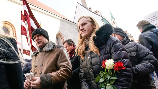 Marcha de los legionarios de Waffen-SS, Riga, Letonia - Sputnik Mundo