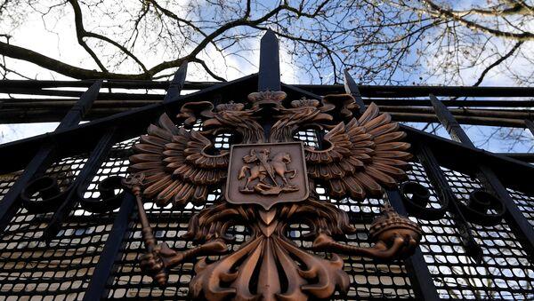 La embajada de Rusia en Londres, Reino Unido - Sputnik Mundo