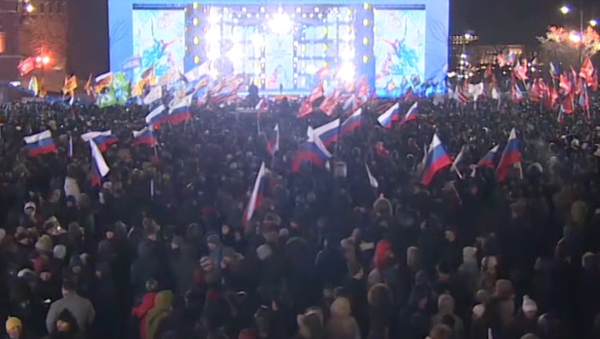 'El hombre que levanta el país': los partidarios de Putin festejan su triunfo - Sputnik Mundo