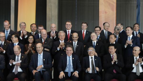 Ministros de finanzas y presidentes de Bancos Centrales reunidos en Cumbre del G-20 en Argentina - Sputnik Mundo