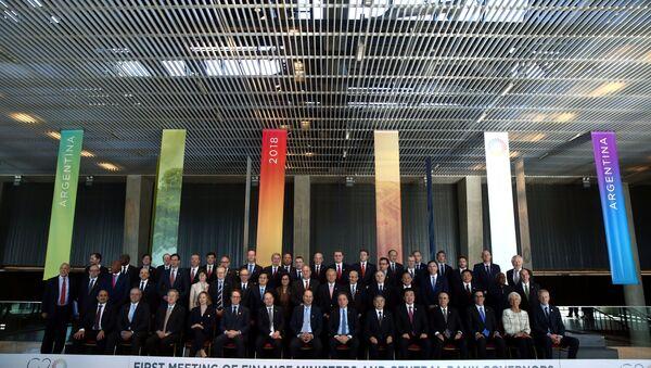 La reunión entre ministros de Finanzas y presidentes de bancos centrales del G20 - Sputnik Mundo