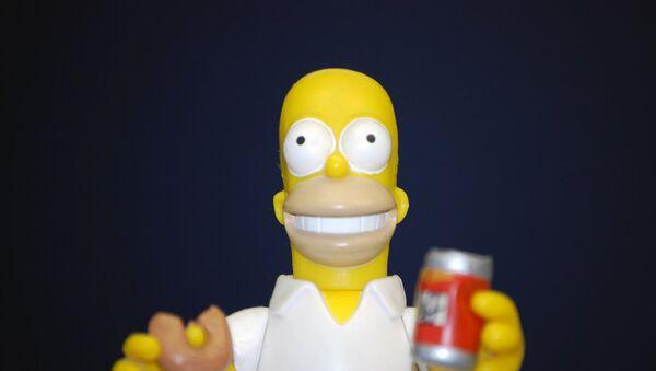 Un muñeco de Homero Simpson - Sputnik Mundo