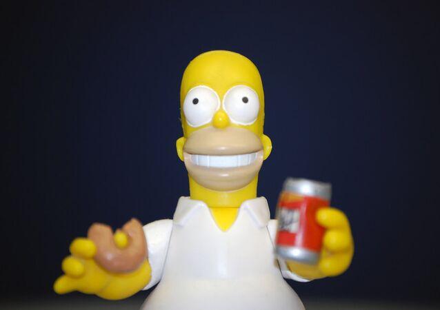 Un muñeco de Homero Simpson