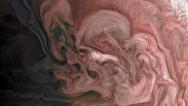 La 'tormenta rosa' en Júpiter - Sputnik Mundo