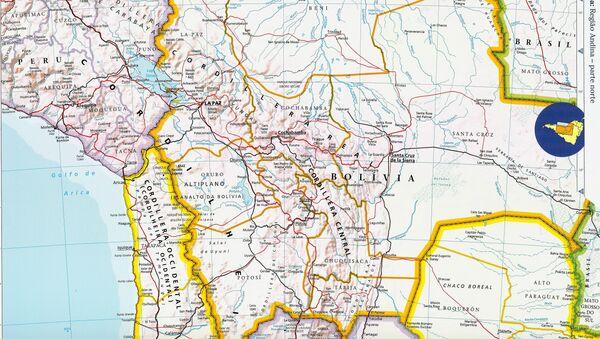 Mapa de Bolivia - Sputnik Mundo