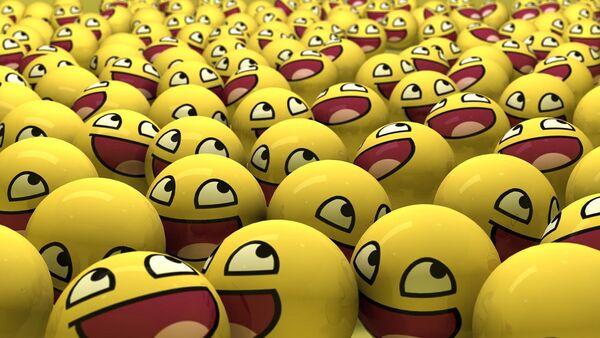 Emoticones sonrientes en forma de pelotas - Sputnik Mundo