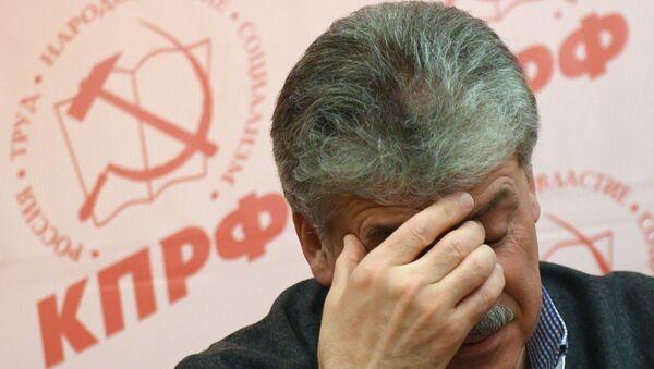 Pável Grudinin, empresario y candidato por los comunistas a las elecciones presidenciales de Rusia 2018 - Sputnik Mundo