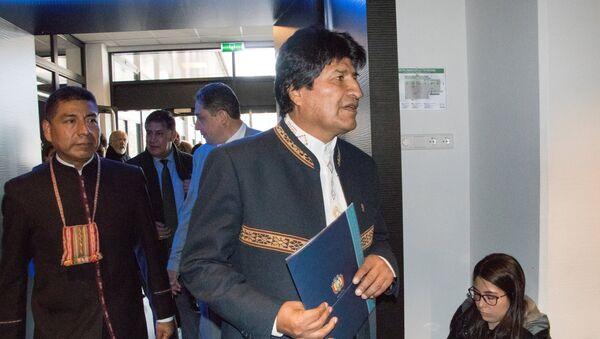 Evo Morales, presidente de Bolivia, en la Corte Internacional de Justicia - Sputnik Mundo
