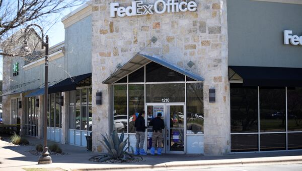 Un centro logístico de la compañía de mensajería FedEx, junto al aeropuerto de Austin - Sputnik Mundo