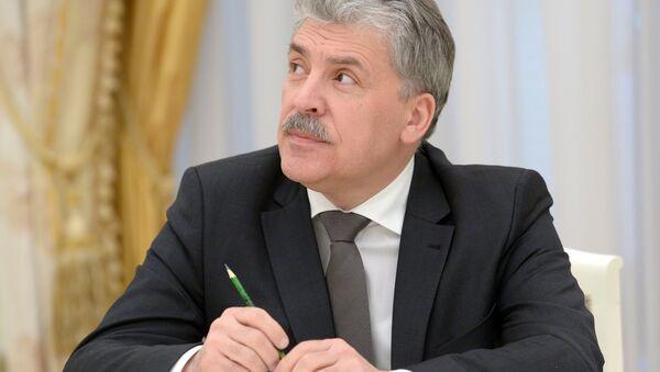 Pável Grudinin, el candidato del Partido Comunista ruso para las elecciones presidenciales de 2018 - Sputnik Mundo