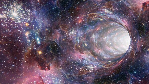 Un agujero negro, imagen referencial - Sputnik Mundo