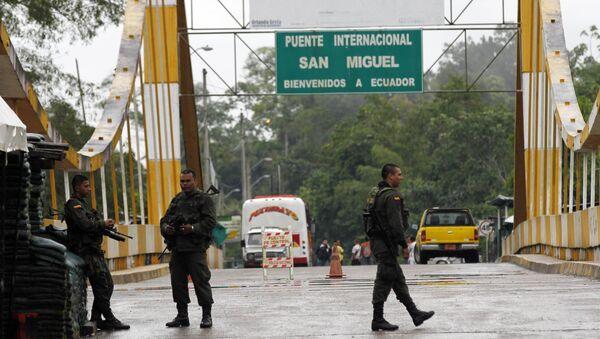 La frontera entre Colombia e Ecuador - Sputnik Mundo