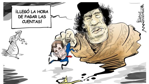 El fantasma de Gadafi espanta a Sarkozy - Sputnik Mundo