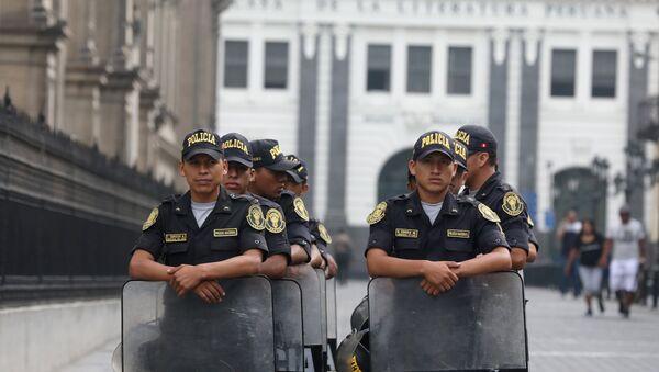 La policía de Perú - Sputnik Mundo