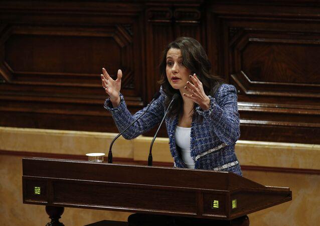 Inés Arrimadas, la líder de la oposición en el Parlamento catalán del partido Ciudadanos (archivo)