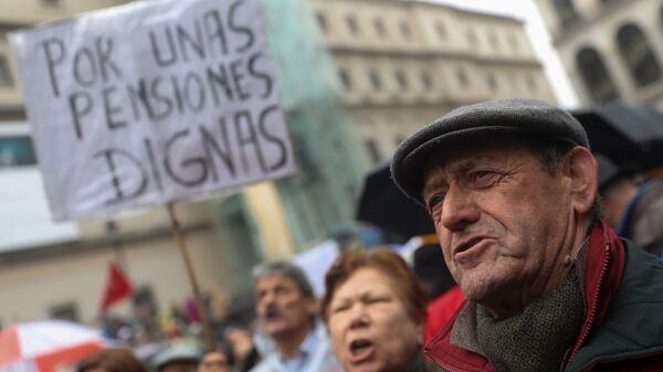 Manifestación de jubilados en España - Sputnik Mundo