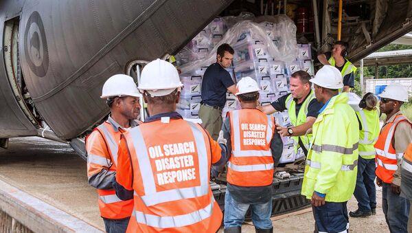 Ayuda para la población de Papúa Nueva Guinea, afectada por un fuerte terremoto - Sputnik Mundo
