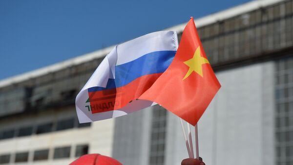Banderas de Rusia y Vietnam - Sputnik Mundo