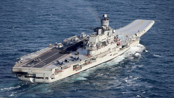 Portaviones ruso Almirante Kuznetsov (archivo) - Sputnik Mundo