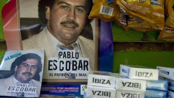 Un póster de Pablo Escobar (imagen ilustrativa) - Sputnik Mundo