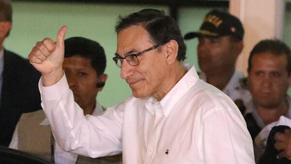 El vicepresidente de Perú, Martín Vizcarra, llega a Lima el 23 de marzo de 2018. - Sputnik Mundo