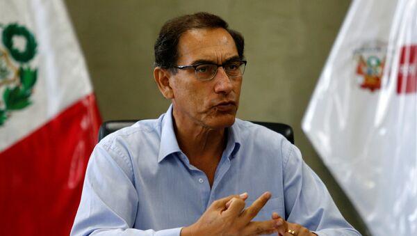 Martín Vizcarra, presidente en funciones de Perú - Sputnik Mundo
