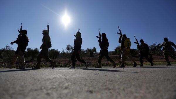 El Ejército Libre Sirio, respaldado por Turquía, en Afrín - Sputnik Mundo