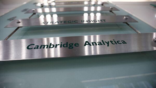 El logo de Cambridge Analytica - Sputnik Mundo