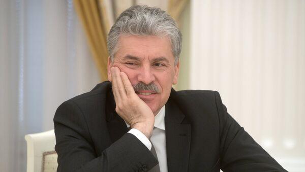 Pável Grudinin, excandidato presidencial por el Partido Comunista - Sputnik Mundo