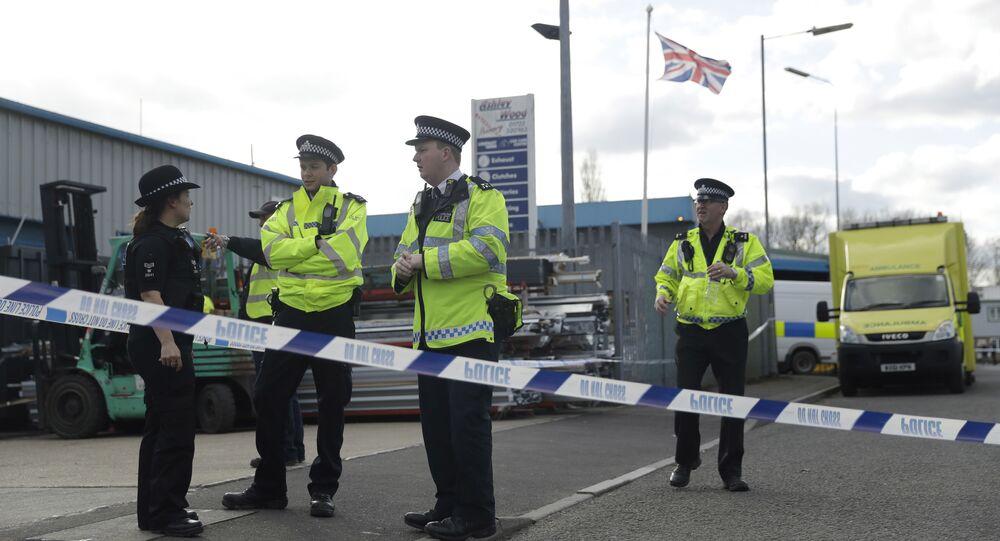 Policías británicos en Salisbury, Reino Unido
