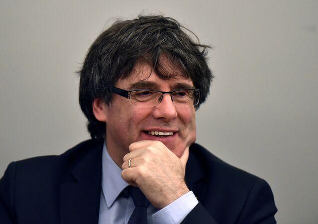 El expresidente del la Generalitat, Carles Puigdemont