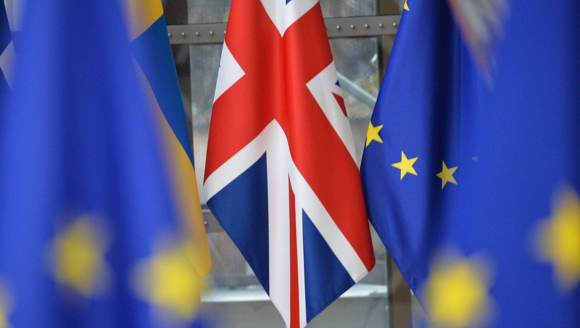 Banderas del Reino Unido y la UE - Sputnik Mundo, 1920, 30.01.2019