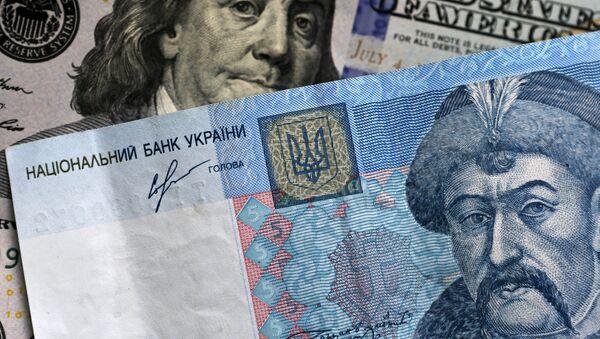 Billetes y monedas de Estados Unidos y Ucrania, imagen referencial - Sputnik Mundo