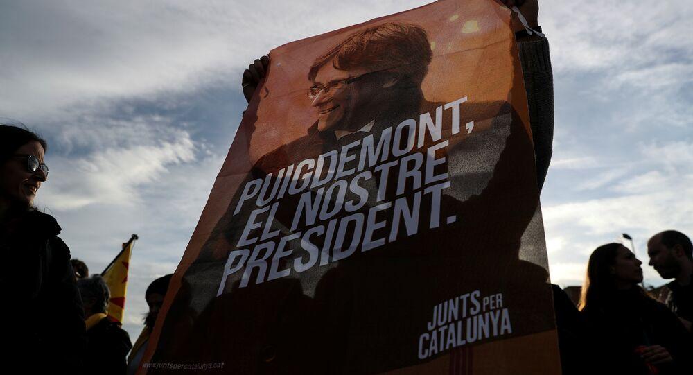Protestas en Cataluña tras la detención de Carles Puigdemont (archivo)