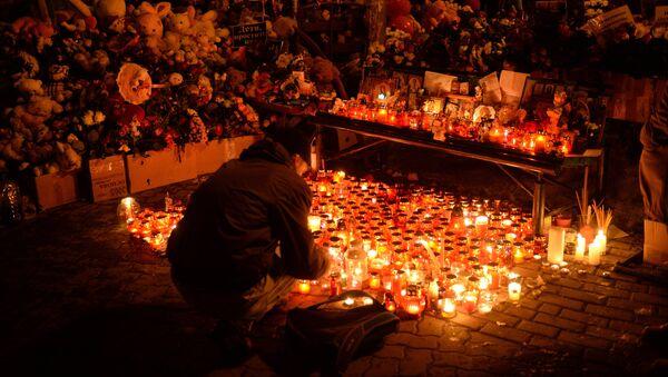 Homenaje a las víctimas del incendio en la ciudad rusa de Kémerovo - Sputnik Mundo