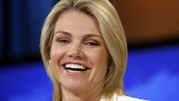 Heather Nauert, portavoz del Departamento de Estado de EEUU (archivo) - Sputnik Mundo