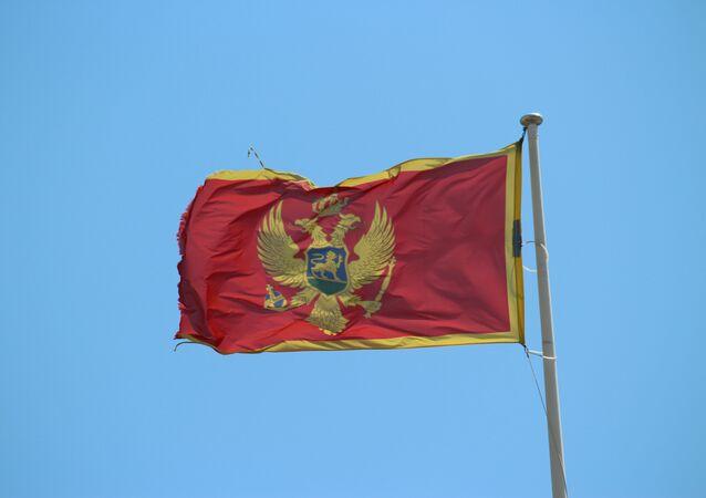 La bandera de Montenegro