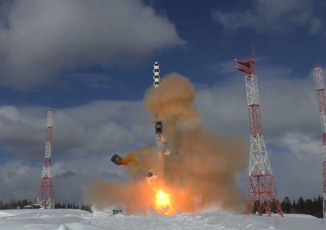 Publican el vídeo del lanzamiento del nuevo misil balístico ruso Sarmat