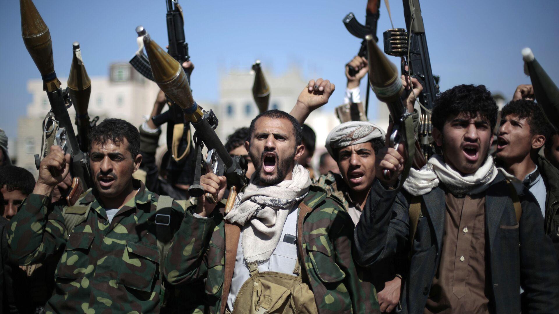 Rebeldes hutíes en Yemen (archivo) - Sputnik Mundo, 1920, 08.04.2021