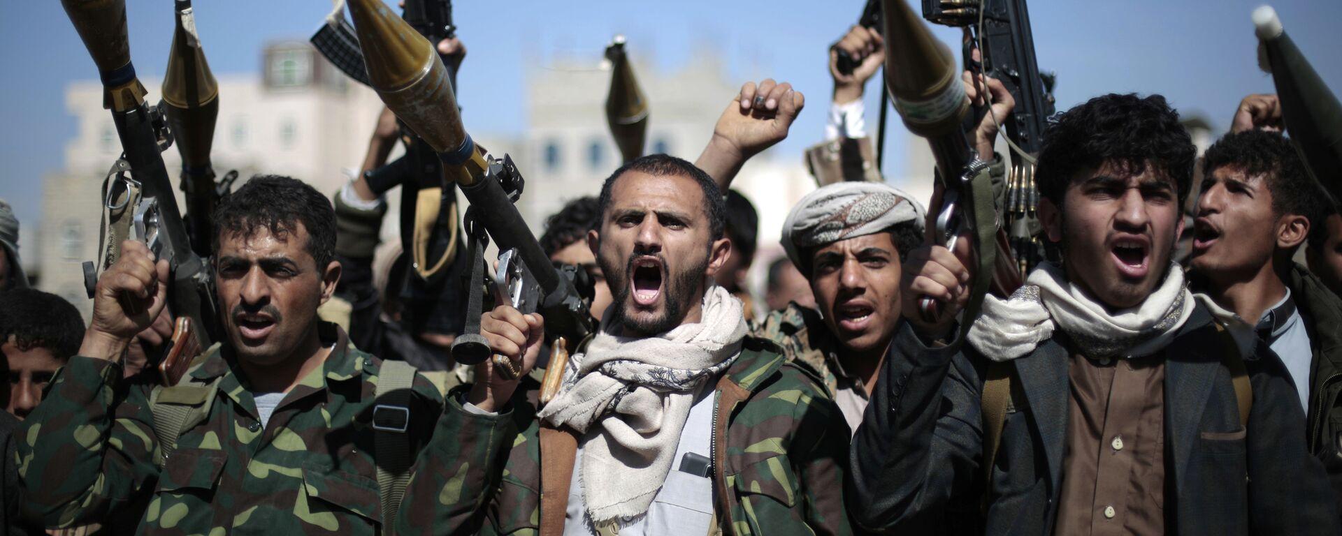 Rebeldes hutíes en Yemen (archivo) - Sputnik Mundo, 1920, 13.01.2021