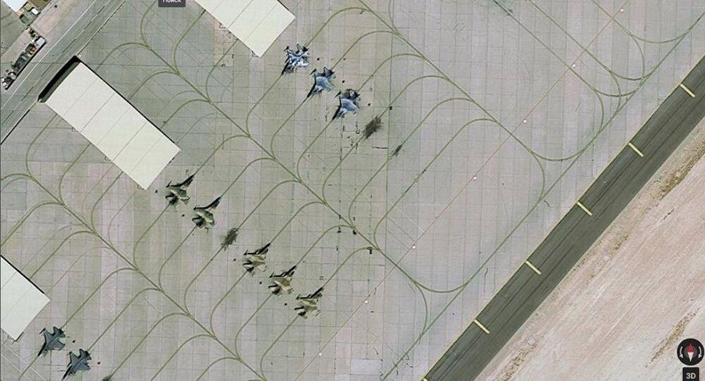 La base aérea Nellis en Nevada (EEUU), captura de pantalla de Google Maps