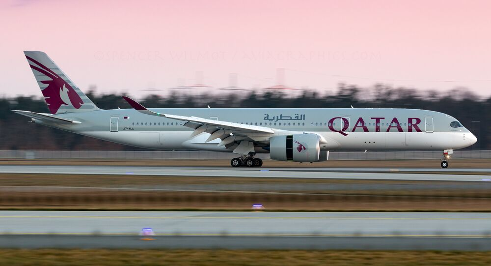 Un A350 de Qatar Airways