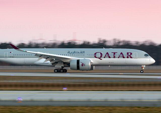 Un A350 de Qatar Airways